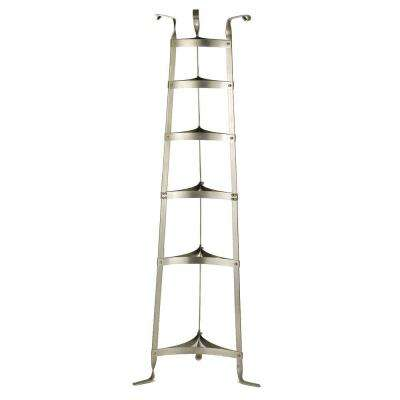 60.5 in. Six Shelf Cookware Stand in Satin Nickel