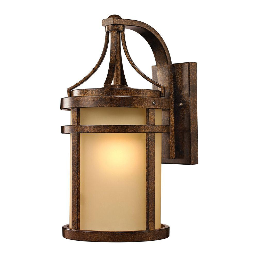 Cupertino Collection 1-Light Hazelnut Bronze LED Outdoor Sconce