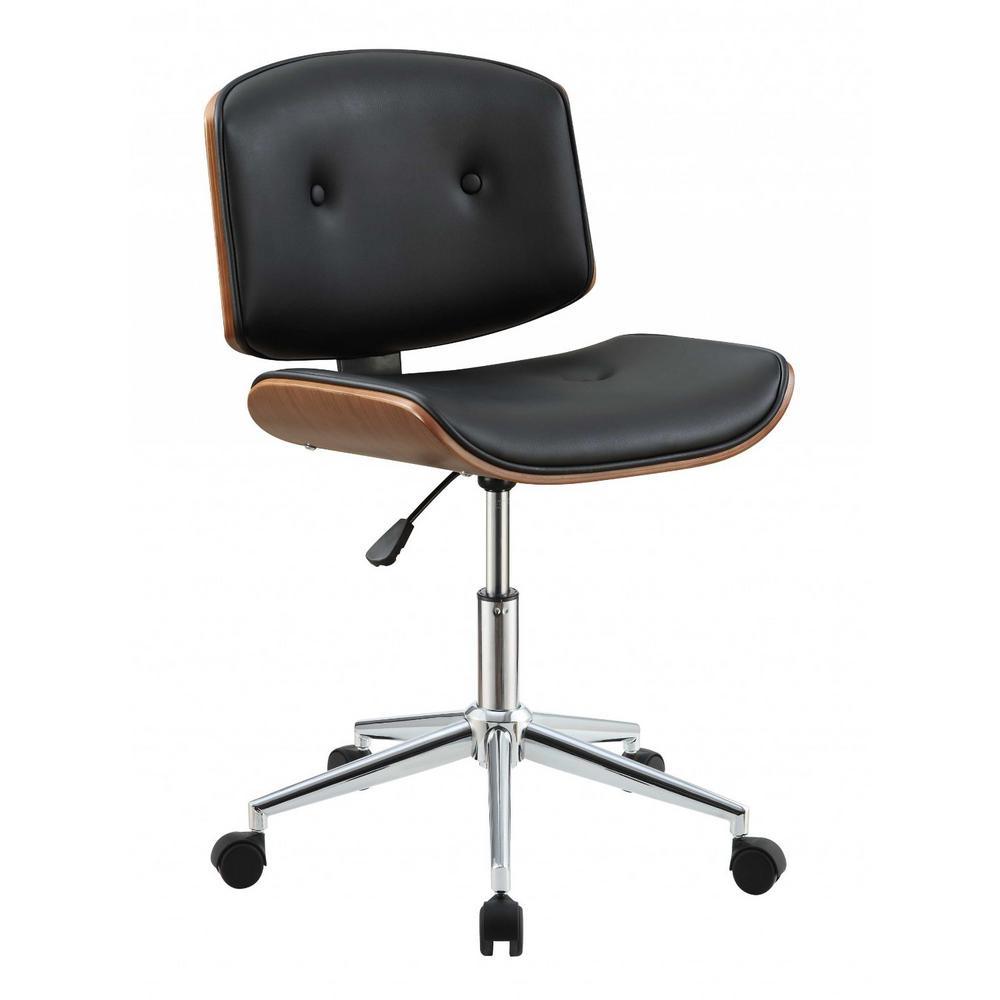 Amelia Black and Walnut Office Chair