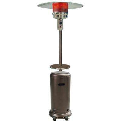 7 ft. 41000 BTU Hammered Bronze Finish Steel Umbrella Propane Patio Heater