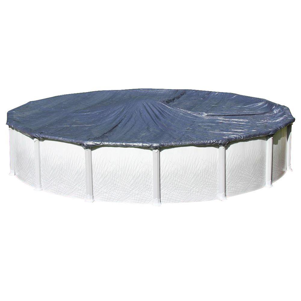 Heritage 30 Ft Round Blue Solid Above Ground Winter Cover Cv 30 The Home Depot