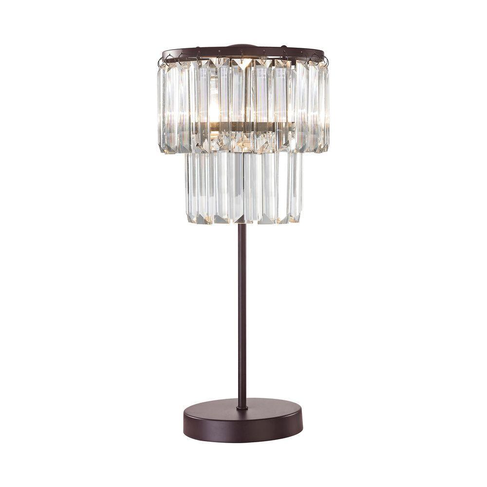 Antoinette 1-Light 18 in. Bronze Table Lamp