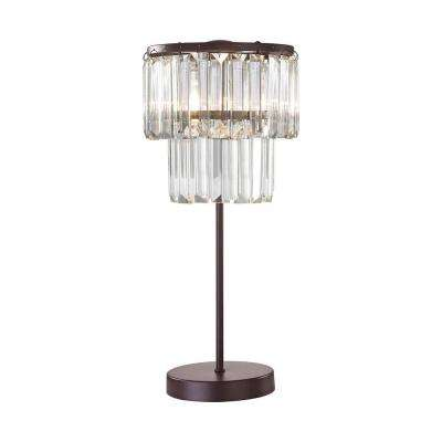 Antoinette 1-Light 18 in. Bronze Table Lamp