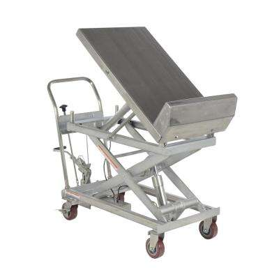 1,000 lb. 22 in. x 33 in.6 in. Partially Stainless Lift and Tilt Cart