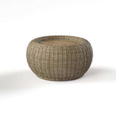 Towne Brown Rattan Coffee Table