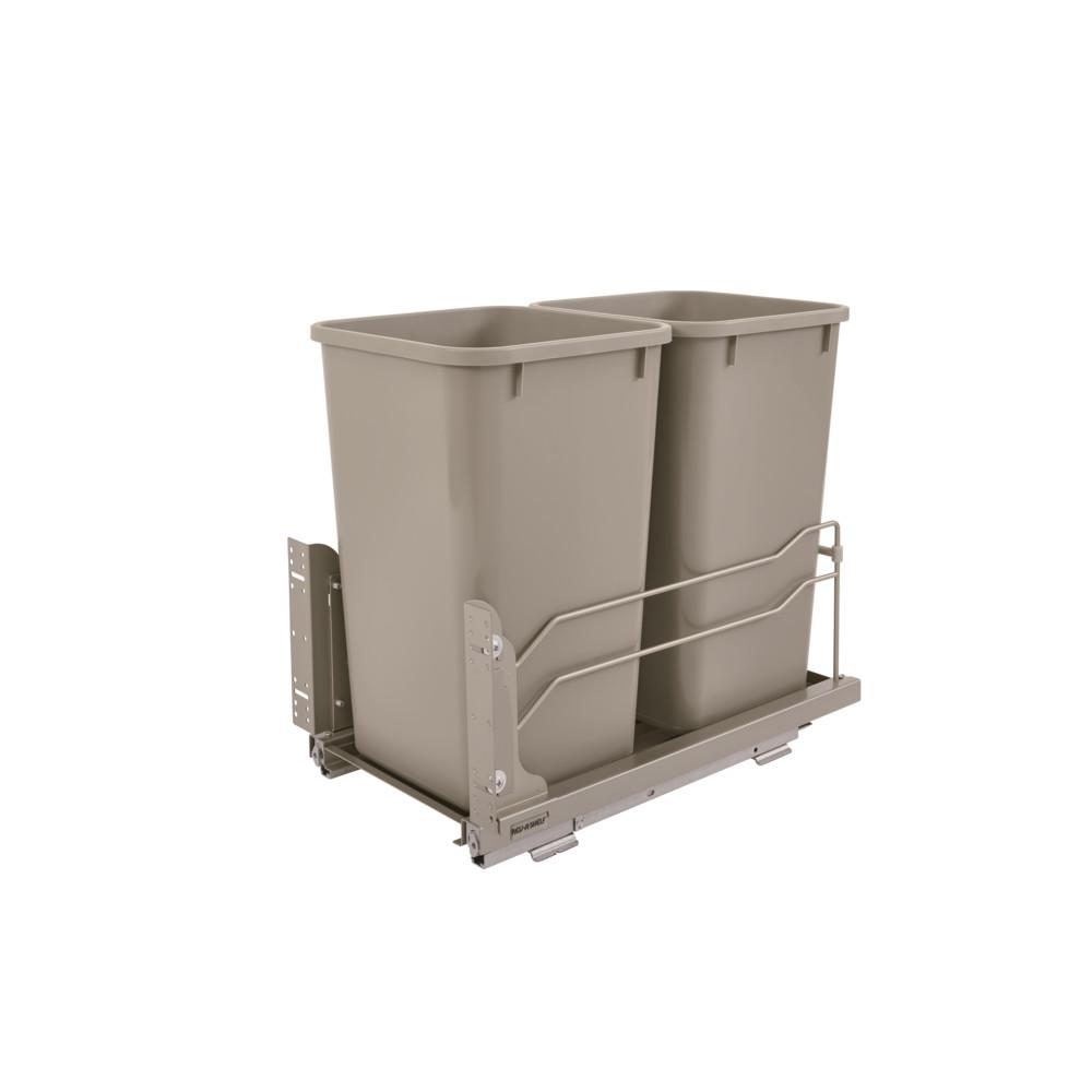 27 Qt. Undermount Waste Container Double
