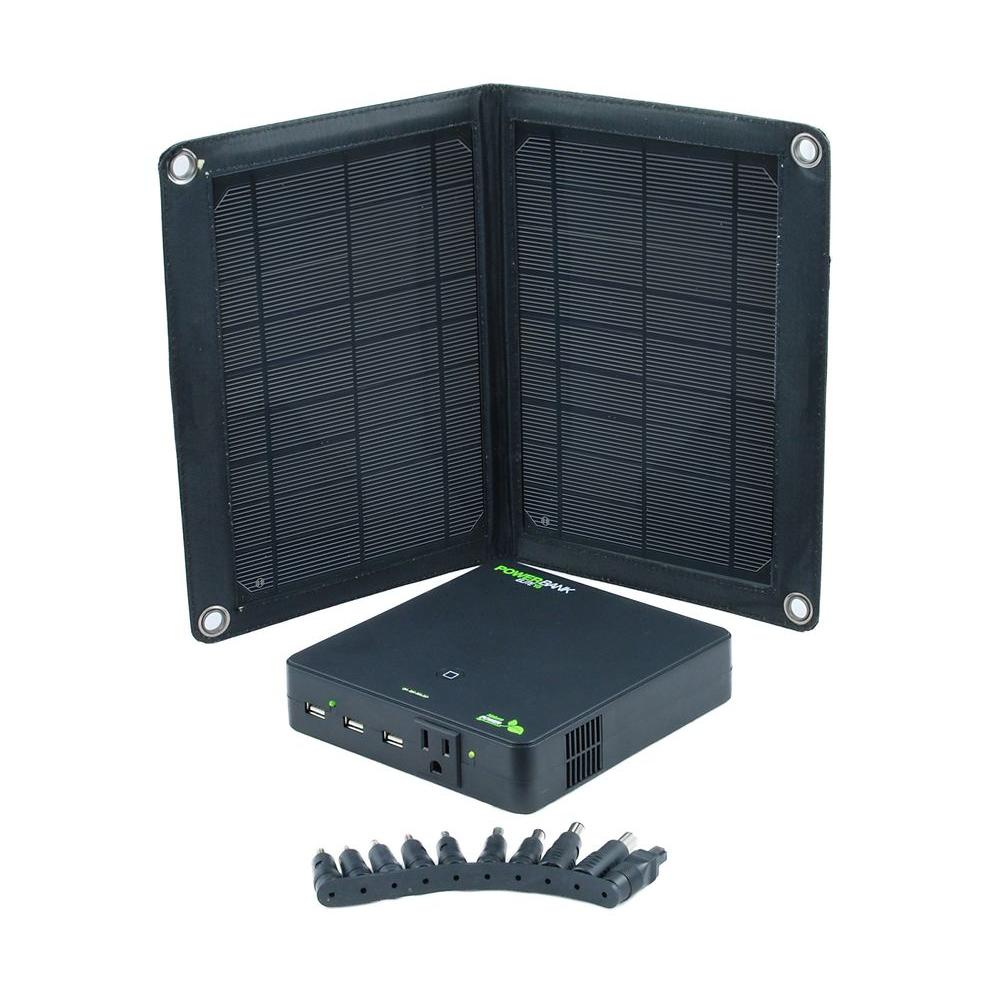 Nature Power 10-Watt Folding Solar Panel Charger with Power Bank Elite 15 Rechargeable Battery Pack-DISCONTINUED