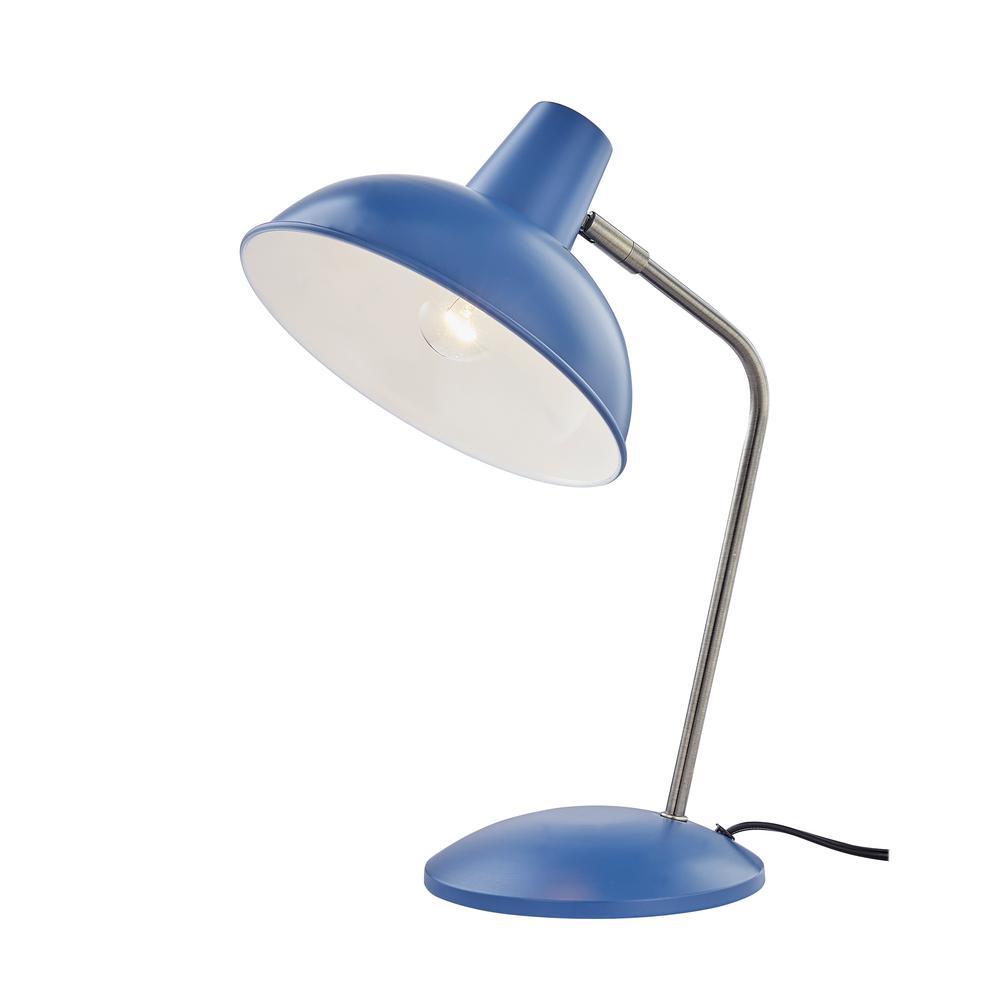 Retro 14.8 in. Hylight Blue Desk Lamp