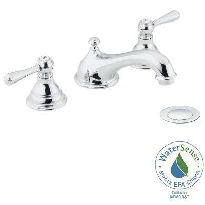 Kingsley 8 in. Widespread 2-Handle Bathroom Faucet Trim Kit in Chrome (Valve Not Included)
