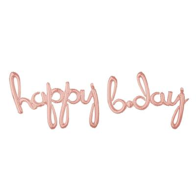 Amscan 7.3 FT Happy Birthday Banner Jointed Letters  Decoration Stars /& Circles