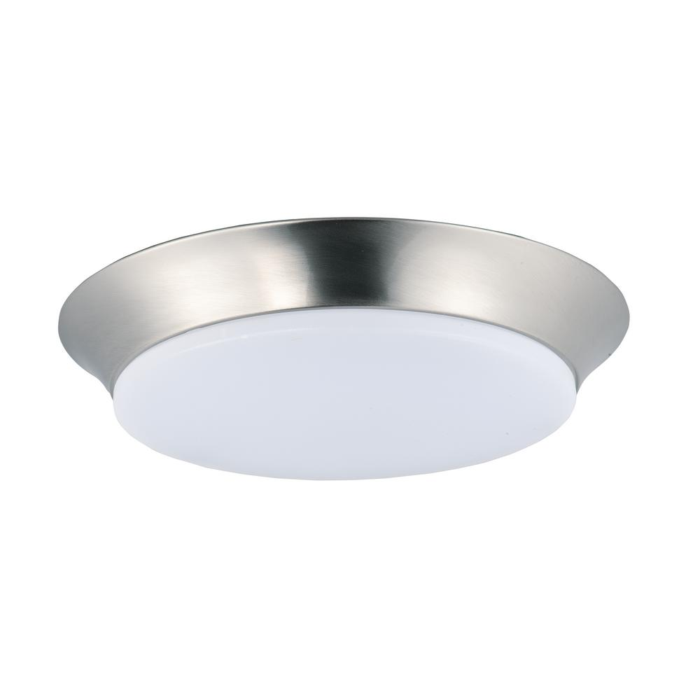 Maxim Lighting Profile EE LED 1-Light Satin Nickel Flush Mount