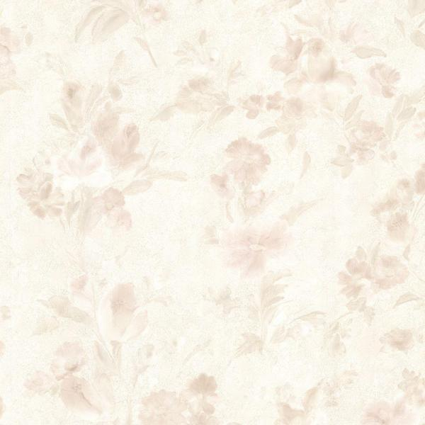 Brewster Miriam Peach Floral Wallpaper Sample 2686-54513SAM