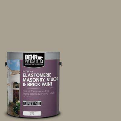 1 gal. #MS-52 Timber Elastomeric Masonry, Stucco and Brick Exterior Paint