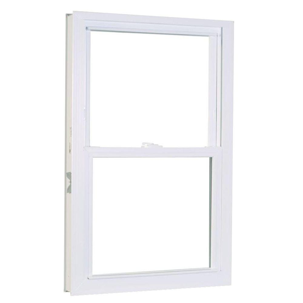 27.75 in. x 37.25 in. 1200 Series Double Hung Buck Vinyl