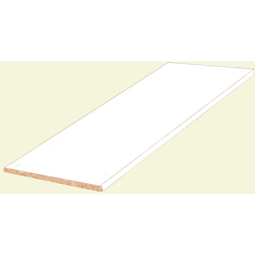 3 4 in x 14 in x 36 in white melamine shelf 1605114 the home depot rh homedepot com melamine shelving home depot canada home depot black melamine shelving