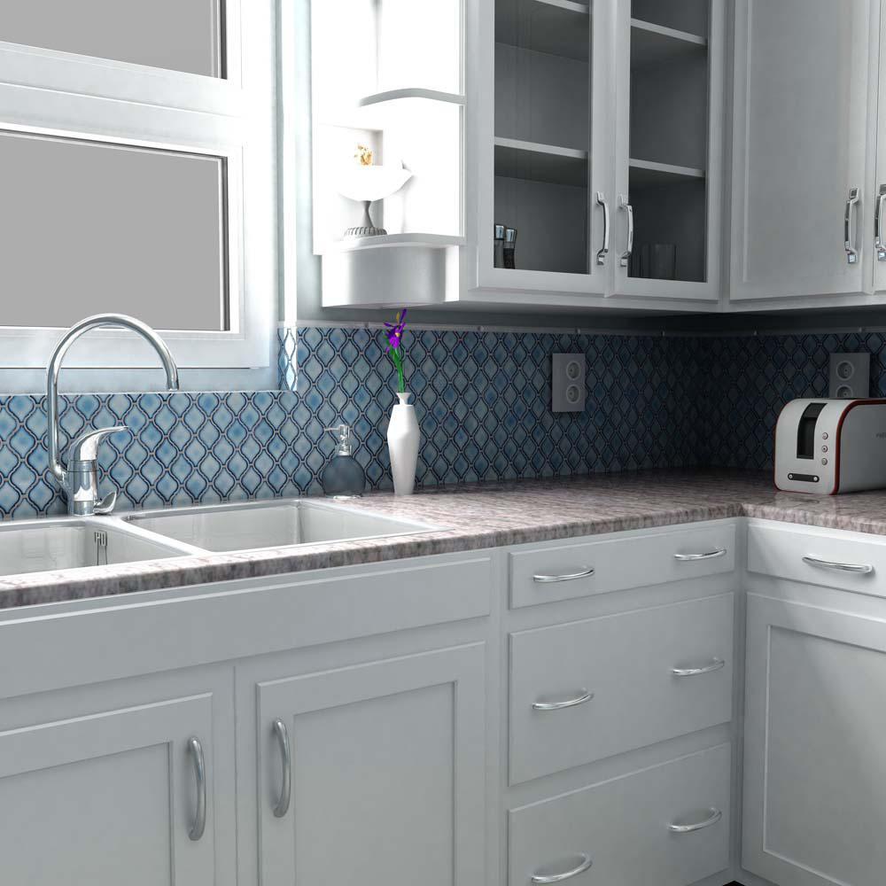- Merola Tile Arabesque Aella Porcelain Mosaic Tile - 6 In. X 6 In