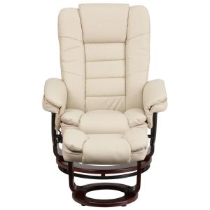 Magnificent Flash Furniture Contemporary Beige Leather Recliner And Dailytribune Chair Design For Home Dailytribuneorg
