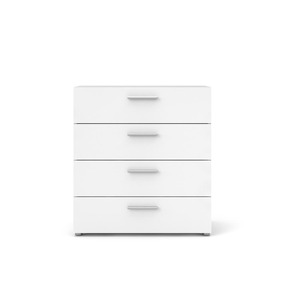 Austin 4-Drawer White Chest of Drawers