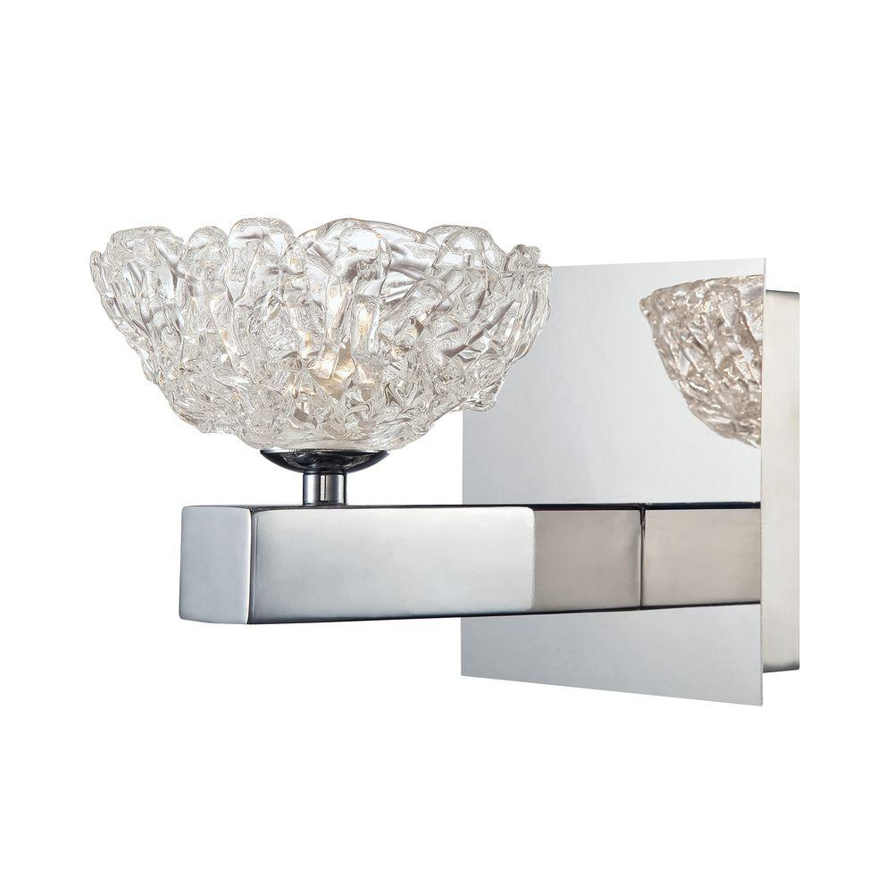 Caramico Collection Chrome Wall Sconce
