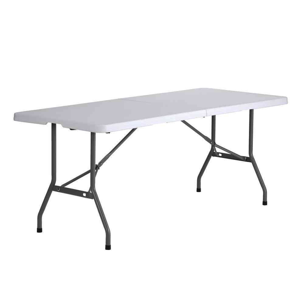 Muscle Rack 72 in. White Plastic Portable Folding Banquet Table - Sale: $45.04 USD (50% off)