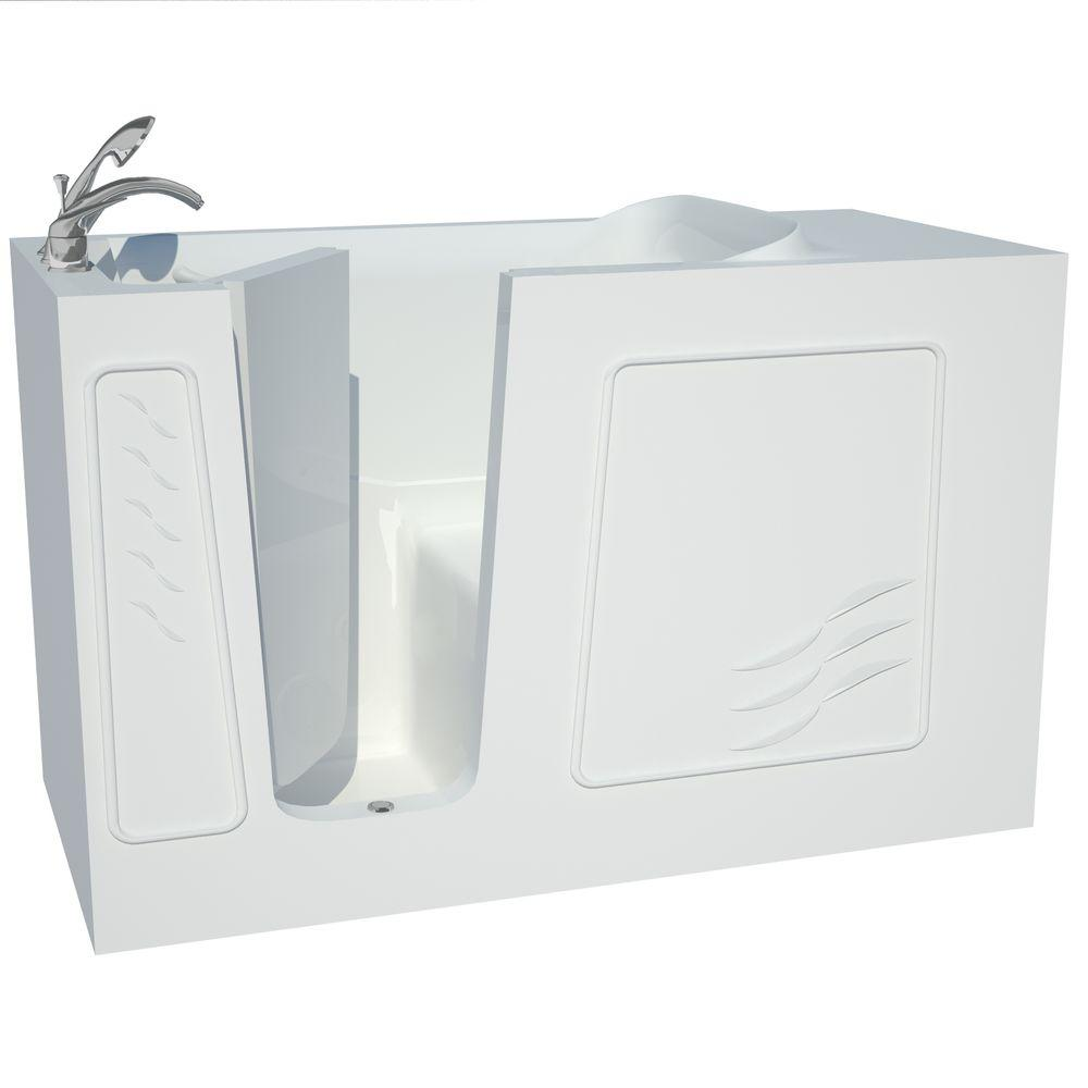 Universal Tubs Builder S Choice 60 In Left Drain Quick Fill Walk In Soaking Bath Tub In White B3060lws The Home Depot
