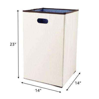 Configurations 23 in. Foldable Laundry Hamper in Natural