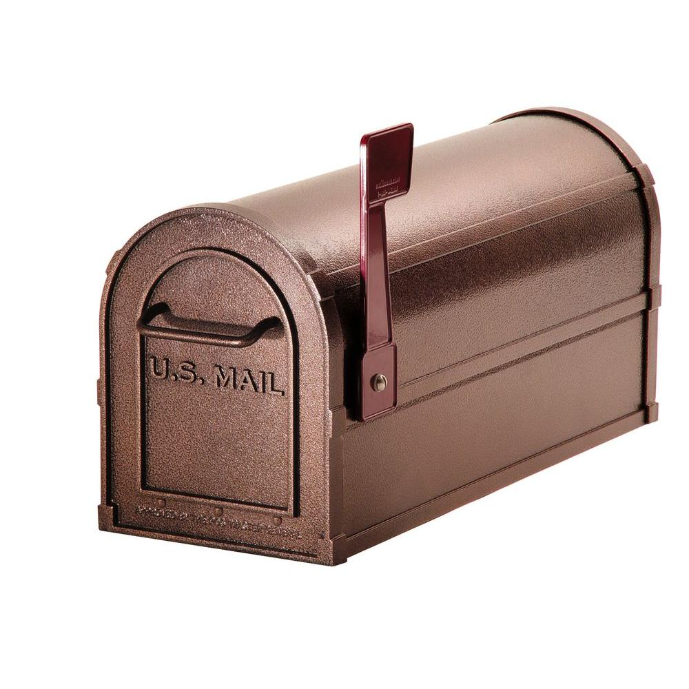 Salsbury Industries 4800 Series Post-Mount Deluxe Rural Mailbox