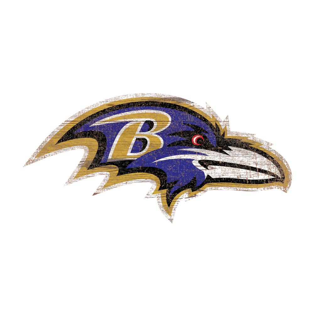 fan creations indoor wood baltimore ravens logo cutout