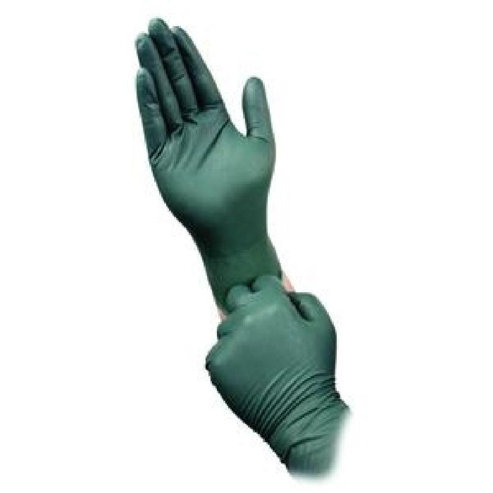 Dura Flock Large 8 mil Flock-Lined Green Nitrile Glove