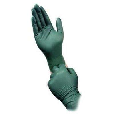 Dura Flock Large 8 mil Flock-Lined Green Nitrile Glove
