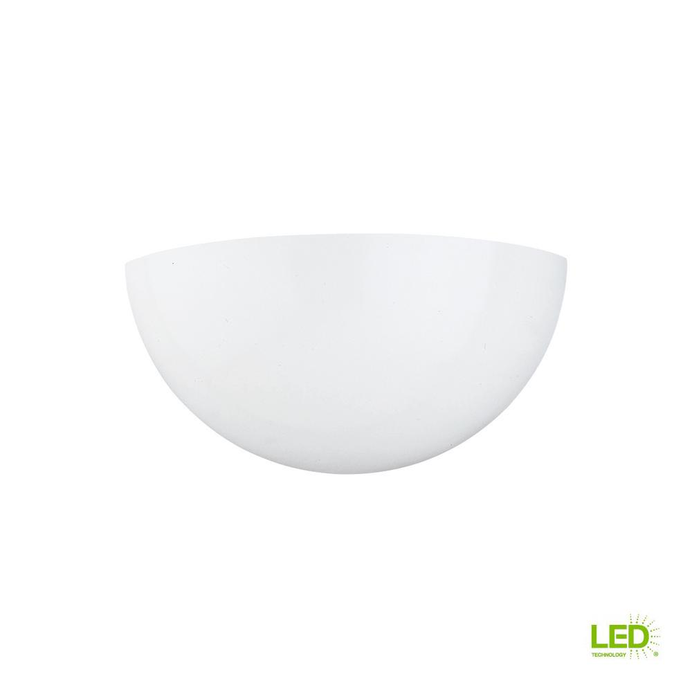 Decorative Wall Sconce 1 Light White With Led Bulb