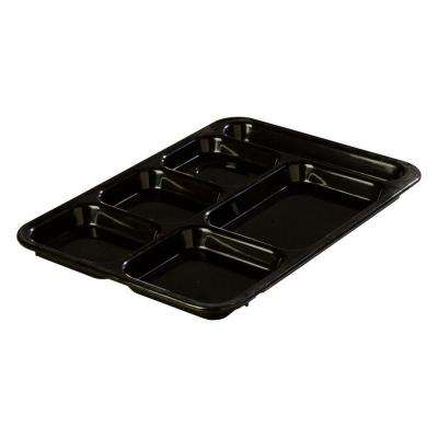 14.37x10 in. ABS Plastic Right Hand 6-Compartment Tray in Black (Case of 24)