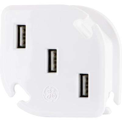 3-USB UltraCharge 3.4 17-Watt USB Charger with Cable Management