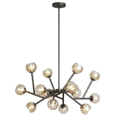 16-Light Vintage Steel Chandelier