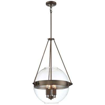 Clear bronze minka lavery pendant lights lighting the atrio collection 4 light harvard court bronze finish pendant 19 in with clear glass aloadofball Gallery