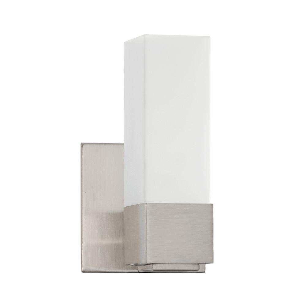 Madison Series 1-Light Satin Nickel Bath Light