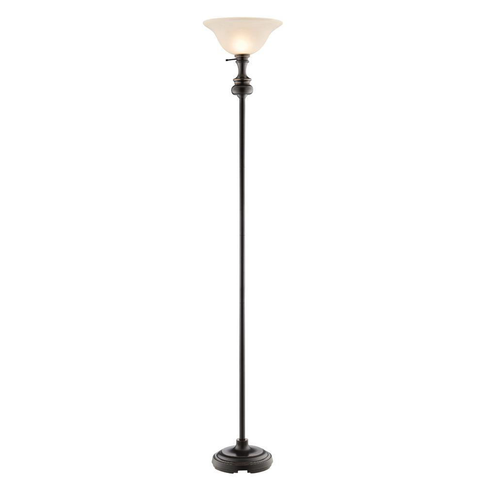 Hampton Bay Candler 71.75 in. Oil Rubbed Bronze Torchiere Lamp