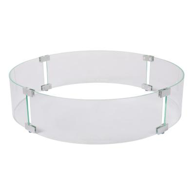 26 in. Round Tempered Glass Wind Guard