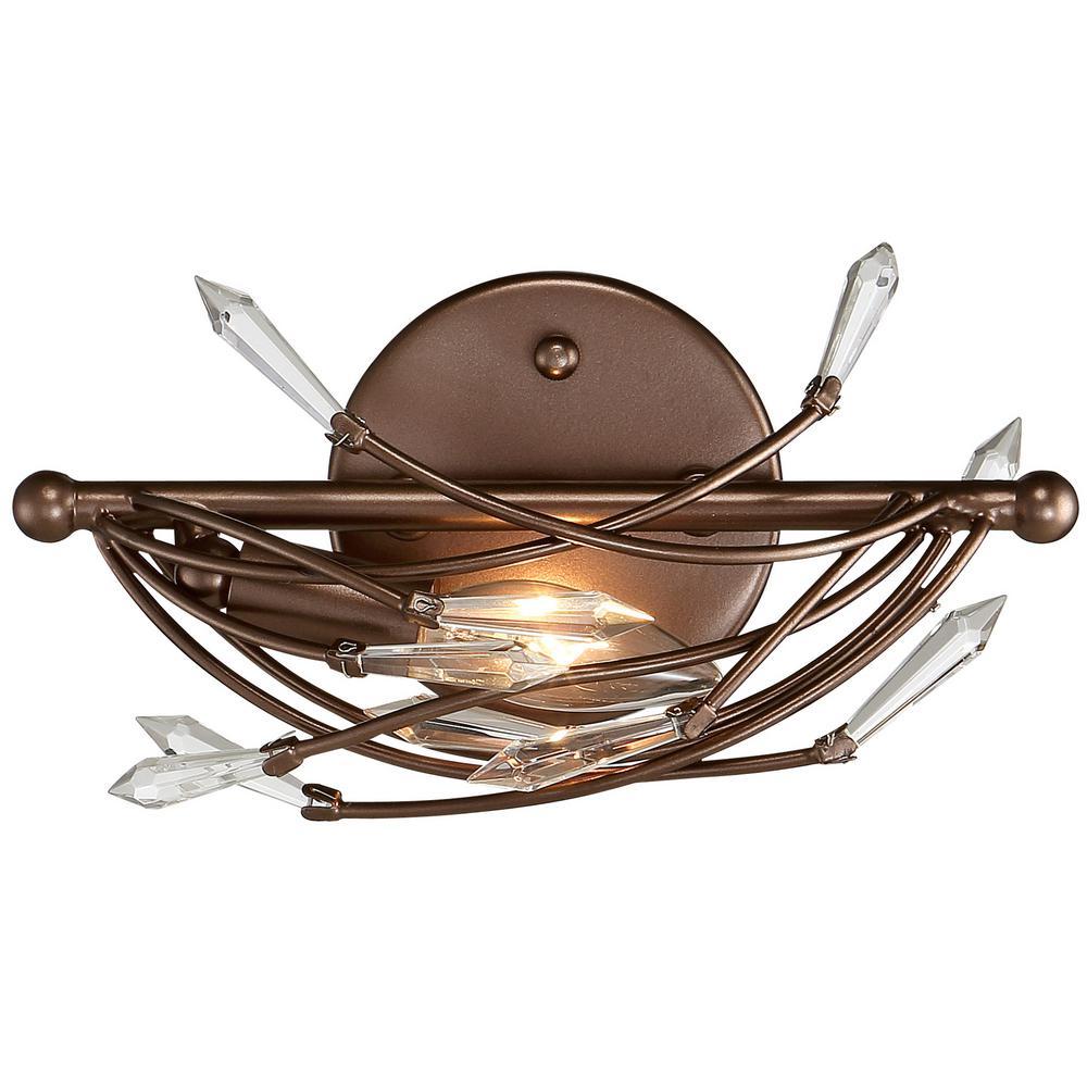Offshoot Bronze Crystal Bath Light