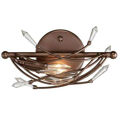 Rogue Decor Offshoot Bronze Crystal Bath Light