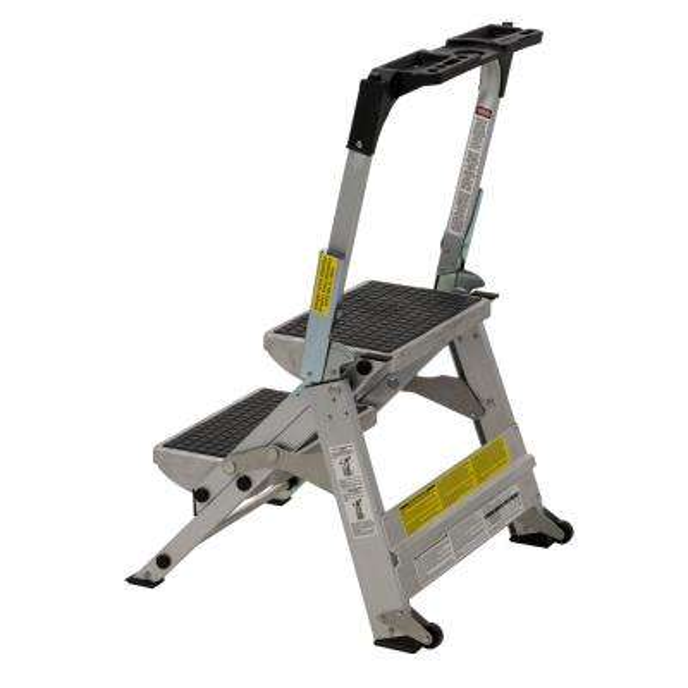 Awe Inspiring 2 Ft Aluminum Step Stool With 300 Lbs Load Capacity Type Ia Duty Rating Creativecarmelina Interior Chair Design Creativecarmelinacom