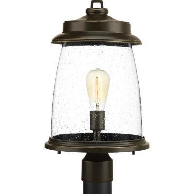 Conover Collection 1-Light Outdoor Antique Bronze Post Lamp