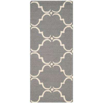 Cambridge Dark Gray/Ivory 3 ft. x 6 ft. Runner Rug