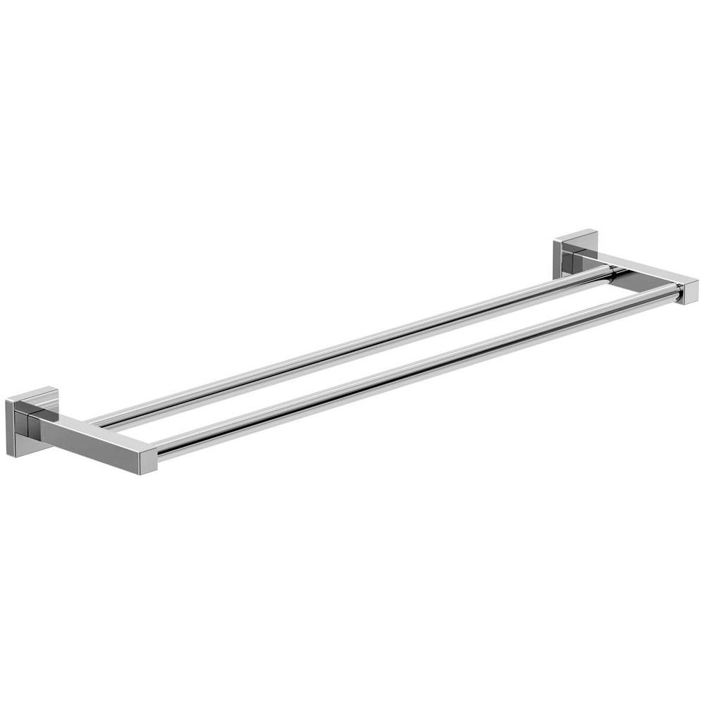 Duro 18 in. Double Towel Bar in Chrome-363DTB-18 - The Home Depot