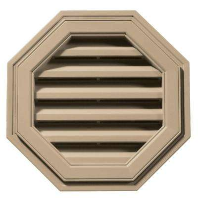 18 in. Octagon Gable Vent in Tan