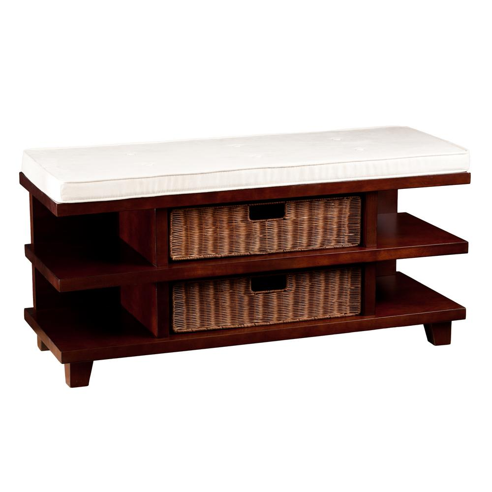 Southern Enterprises Brenda Espresso Storage Bench Hd748122 The Home Depot