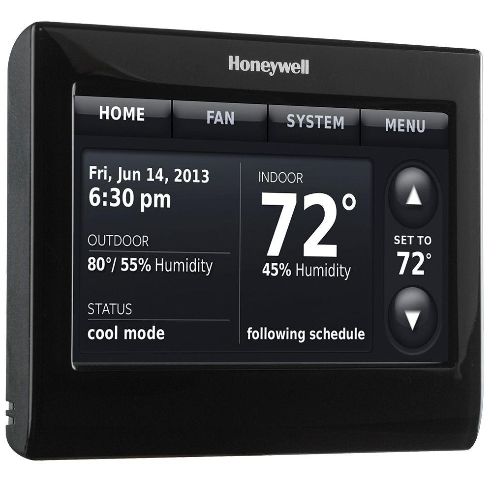 honeywell 7 day wi fi smart programmable thermostat with voice rh homedepot com