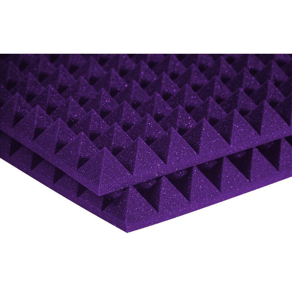 Auralex 2 ft. W x 2 ft. L x 2 in. H Studio Foam Pyramid Panels - Purple (Half-Pack: 12 Panels per Box)