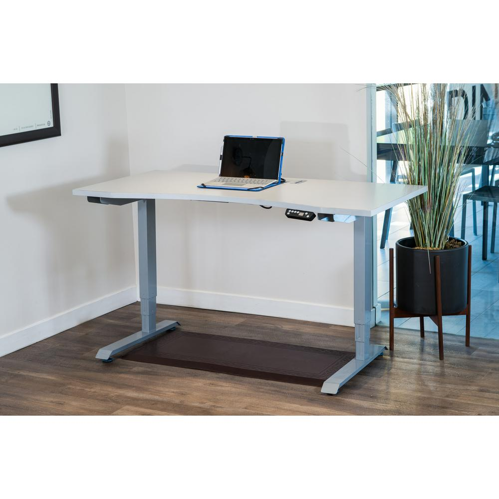 canary white electric height adjustable desk frame abc592wt the home depot. Black Bedroom Furniture Sets. Home Design Ideas