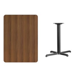 30 in. x 42 in. Rectangular Walnut Laminate Table Top with 22 in. x 30 in.  Table Height Base